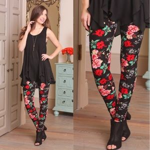 413fba79d2a03 Accessories | New Floral Print Leggings Footless Tights | Poshmark